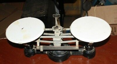 Vintage Cast Iron Porcelain Plate Scale Free Shipping
