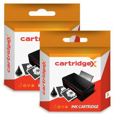2 x Black Ink Cartridge Compatible With HP 302XL Officejet 4658 5230 All-in-One
