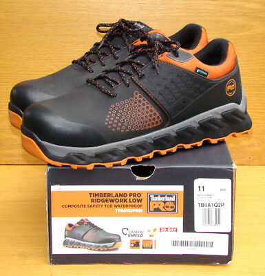 d1623cd06585 TIMBERLAND Pro Ridgework Composite Toe Waterproof Black Orange A1Q2P Men 11  M