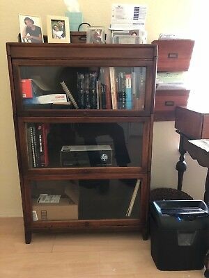 Vintage WOOD BARRISTER BOOKCASE Hale's oak lawyer mid century stacking antique