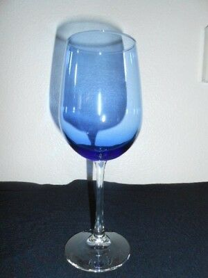 """Beautiful Blue Crystal Wine Glass Goblet 16 OZ  9 1/4"""" Tall FREE SHIPPING!"""