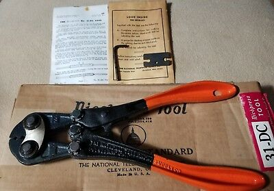 New-old-Stock Boxed Nicopress Sleeve Tool No. 31-DC With Booklet, Tool & Gauge