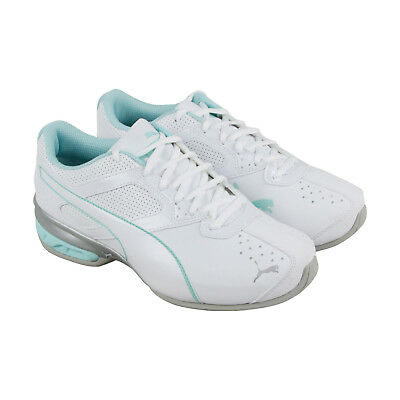 Puma Tazon 6 Fm Womens White Synthetic Athletic Lace Up Running Shoes