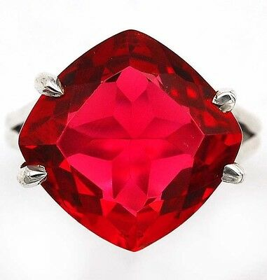 8CT Rubellite Tourmaline 925 Solid Genuine Sterling Silver Ring Jewelry Sz 8