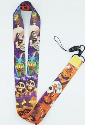 Walt Disney Pictures Coco Movie Lanyard Keychain Pixar Coco Colors