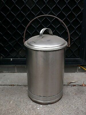 Vintage Stainless Steel Bucket Dairy Milk , Hospitality , Commercial Medical
