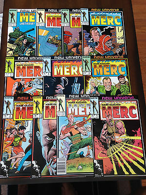 Mark Hazzard Merc Comic Lot 11 Issues Marvel Comics New Universe Peter David