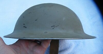 Ww 2 British Israeli Paint Tommy Helmet Orig Kelly W/ Post War Liner Very Nice