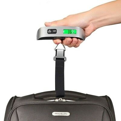 Portable Digital Luggage Scale LCD Display Travel Hook Hanging Weight 110lb/50kg