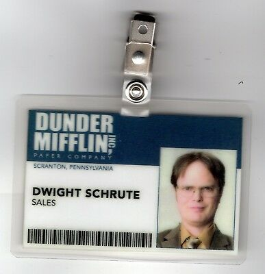 The Office ID Badge-Dunder Mifflin Sales Dwight Schrute cosplay costume