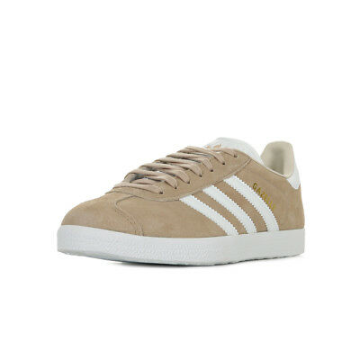 CHAUSSURES BASKETS ADIDAS femme Gazelle W taille Beige Nubuck Lacets