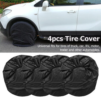 "4pcs 32"" Waterproof Car Wheel Tire Covers 210D Oxford Fabric For Truck RV Camper"