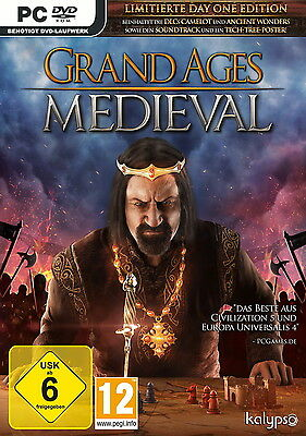 Pc Game Grand Ages: Medieval Limited Day 1 Edition DVD Shipping New
