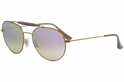 5062318da61063 Ray Ban Men s RB3540 RB 3540 RayBan 198 7X Shiny Bronze Pilot Sunglasses  56mm