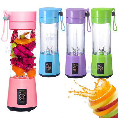 Portable USB Electric Fruit Juicer Smoothie Maker Blender Bottle Juice Shaker AU