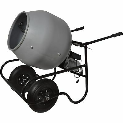 Klutch 3.5 Cubic Ft. Portable Cement Mixer - 1/2 HP, Poly Drum