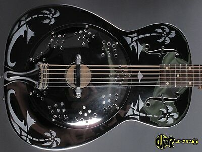 1979 Dobro H33 Round neck Resonator Guitar - Chrome Plated Bell Brass