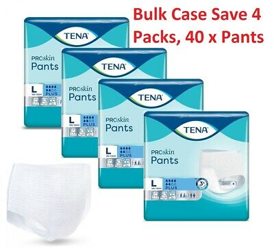 TENA Pants Plus - Large Size - Case Deal 4 Packs Of 14 -(56) Incontinence Pants