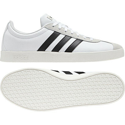 temperament shoes designer fashion genuine shoes ADIDAS NEO VL Court 2.0 White Black B43712 Casual Trainers ...