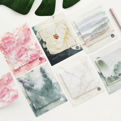 30 Page Flower Stones Memo Pad Sticky Notes Planner Stickers Stationary Supplies