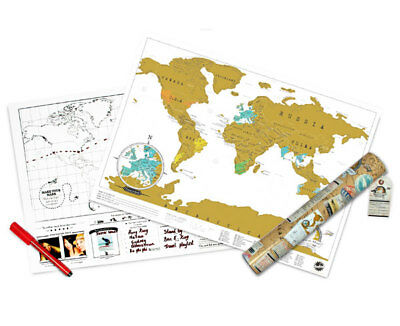 Scratch Map Travel Map – Travel sized personalised Scratch off world Map poster