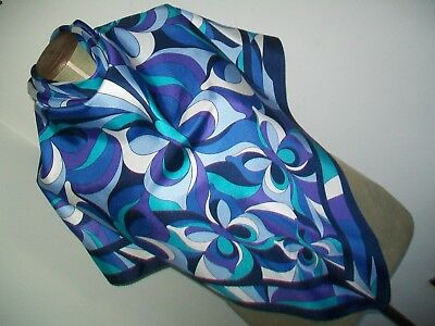 Tie Rack. Stunning Large Abstract / Pop Art Style Design Vintage Silk Scarf