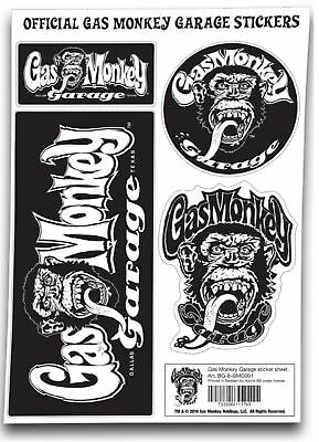 Gas Monkey Garage Sticker Set GMG Monkey Logo Official New Size One Size