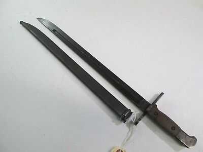Wwii Japanese Bayonet National Denki Mark With Scabbard Minty #l92