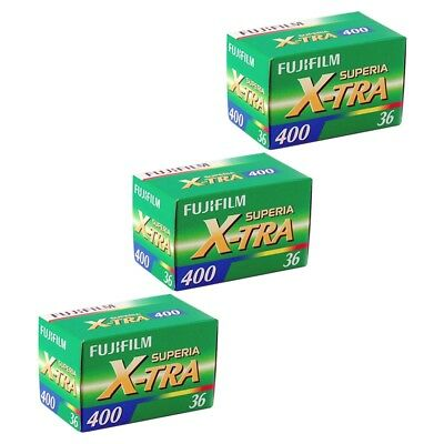 3 Pack Fuji Superia X-TRA 400 ASA 135-36 35mm Colour Print Film - Extra Value!