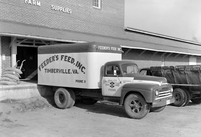 """1930-1950 Feeder's Feed Truck, Timberville Vintage Photograph 13"""" x 19"""" Reprint"""