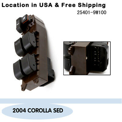 New Electric Power Window Master Control Switch Fit 2004 Toyota Corolla