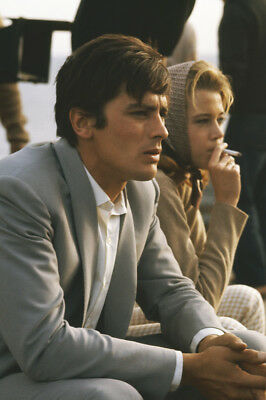 Joy House Jane Fonda Alain Delon Smoking On Film Set 24X36 Poster