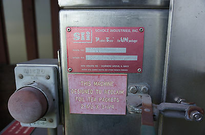 Scholz Industries dry product saver (designed to reclaim foil tea packets)