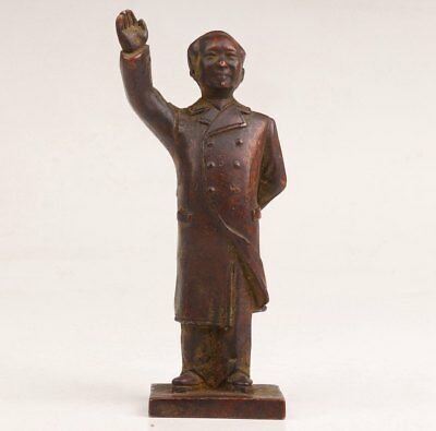 Antique Bronze Casting Rare China Great Chairman Mao Statue Figurine