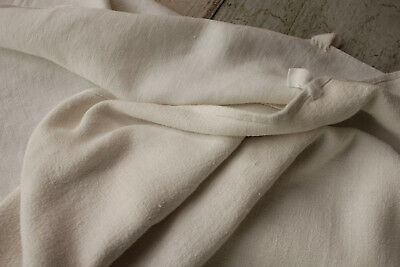Pair of Antique soft white towels 2 French linen hand/bath cloth 18th or 19th c.