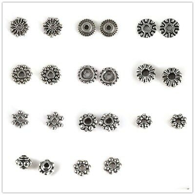 50Pcs/Set Metal Spacer Beads For DIY Bracelet Necklace Jewelry Findings Making