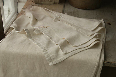 One Antique soft white towel French linen hand or bath cloth dishtowel 19th c.