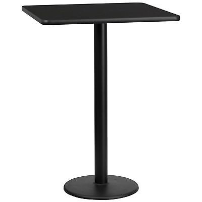 30'' Square Laminate Table Top with 18'' Round Bar Height Table Base