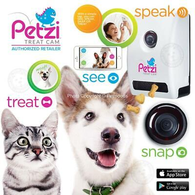 Petzi Smart Automatic Pet Treat Dispenser w/ Wi Fi Camera & Cell Phone APP