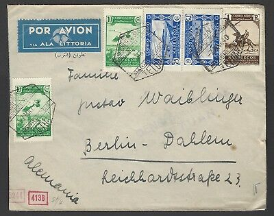 Spanish Morocco 1940 censored airmail envelope to Berlin Germany