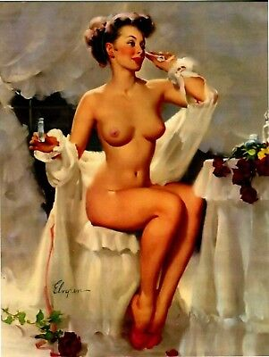 Postcard Of Pin Up Girl Done By Elmgren