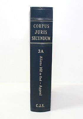 Corpus Juris Secundum - Law Book - Volume 3A / Aliens 162 to End - Appeal 1973