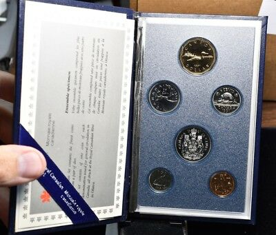 1991 Canada - 6 Coin Proof Set With Box & Coa
