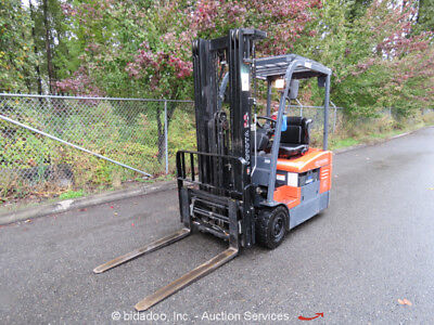 2007 Toyota 7FBEU15 3,000lbs Industrial 36V Electric Forklift Lift Truck S/S F/P