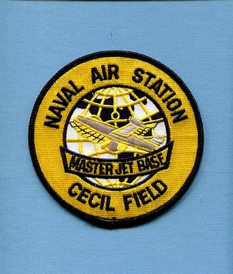 NAS Naval Air Station CECIL FIELD Florida US Navy Base Squadron Jacket Patch