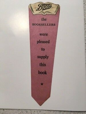 1950's Bookmark – advertising Boots the Chemist