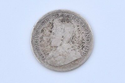 1915 Sterling Silver Canadian Dime 10 Cent Canada Coin George V