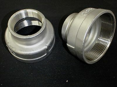 "STAINLESS STEEL REDUCER COUPLING  2 1/2"" BSPT x 1 1/2"" NPT  PIPE RC-250-150"