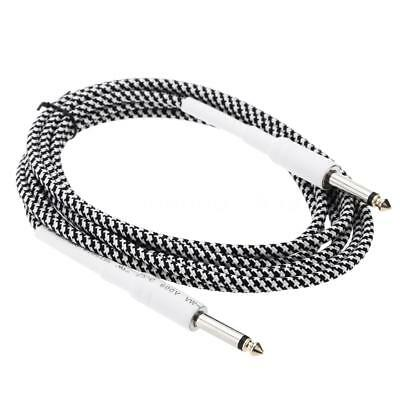 6.6ft/2m 6.35mm male to 6.35mm male cable for electric guitar Bass V4P3