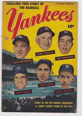 Thrilling True Story Of The Baseball Yankees 1952 Golden Age Comic G/vg Cond